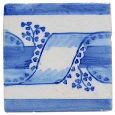 19th Century Antique Ribbon Portuguese Tile