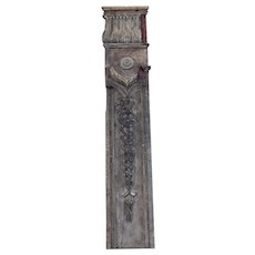 19th Century English Victorian Era, Tall Wooden Panel / Antique Wood Paneling