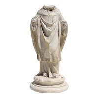 19th Century French Plaster Figurine of a Saint or Bishop