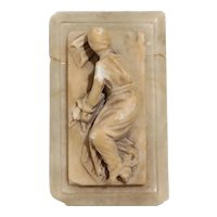 19th Century Antique Alabaster Sculpture Of The Martyred St. Cecilia, Grand Tour