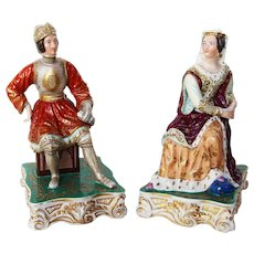 19th Century, A Pair of French Porcelain Figural, probably Jacob Petit