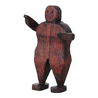 19th Century, Folk Art Articulated Figure, Wooden Doll, Lay Figure Antique