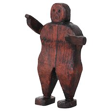 19th Century, Folk Art Articulated Figure, Wooden Doll, Lay Figure Antique