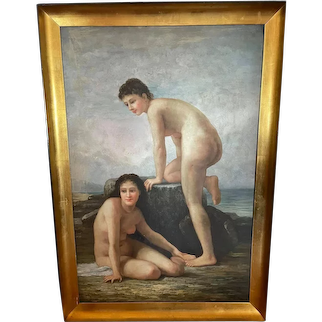 After William Adolphe Bouguereau (French, 1825-1905), The Bathers (1884), Oil on Canvas