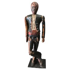 18th Century Folk Art Limberjack or Dancing Doll, Antique Figurine, Jig Doll