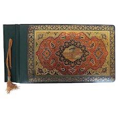 Antique Handmade Qajar Persian Lacquer Photo Album, ca. 1930