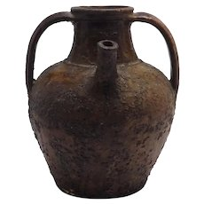 Antique Portuguese Water Jug, 18th Century, Earthenware