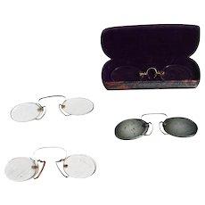 Antique English Set of Four Pince-Nez Glasses