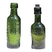 Antique Set of Two Beer Bottles: Knowles & Tampkins and Guernsey Brewery Cº LTD