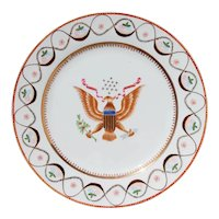 Chinese Export American Armorial Porcelain Plate