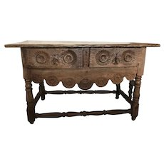 A Antique Portuguese 17th Century Refectory Console Table