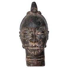 Benin Decorative Head of an Oba, Circa: 1950