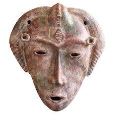 Antique Large Asian Mask, Earthenware
