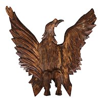 18th Century, Gold Leaf Wooden Bird Figure, Baroque Period, Portuguese Antique