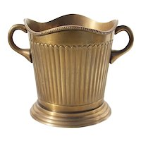 1900s Antique French Brass Ice Bucket for Wine