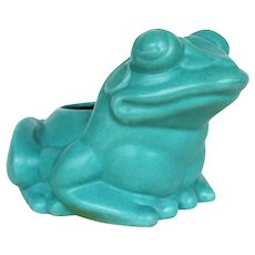 Mid-Century Large Vintage Chinese Export Frog Planter, Glazed Earthenware