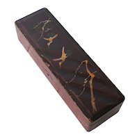Chinese Jewelry Lacquer Box depicting Birds, Hand Painted