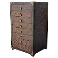Chinese Wood Jewelry Box 8 Drawers