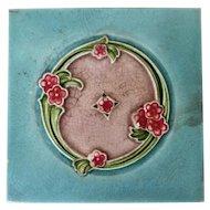 Continental Arte Deco Original Tile, H & R Johnson LTD England, Glazed Ceramic