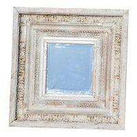Divinely Decadent White & Gold Leaf Antique Baroque Mirror, Portuguese