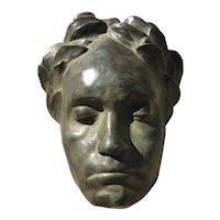 Early 20th Century Beethoven Death Mask,  Earthenware, Antique