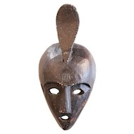 Chokwe Female African Mask, Wood carving, early 20th Century