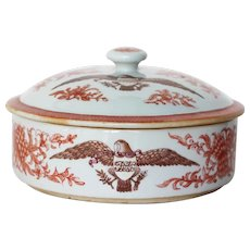 Chinese Export American Armorial Porcelain Tureen