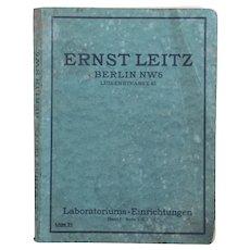 Ernst Leitz Berlin Laboratoriums Einrichtungen Apparate und Gerätschaften Part 1