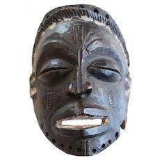 Vintage Female African Mask, Mwana Pwo