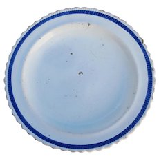 18th Century Antique French Plate, Faience, Glazed Earthenware