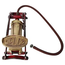 Original and Rare German Vintage Welco Brass Motorcycle Air Pump, Works, Genuine
