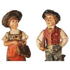 Goldscheider Austrian, School Kids Clay Sculptures, 19th Century