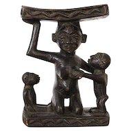 Vintage Maternity Pillow, Headrest, African Tribal Art