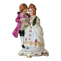 Meissen Style, Porcelain Figurine Couple, Marked: Vista Alegre, Portugal