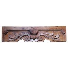 Original 18th Century Big Baroque Rococo Wood Carved Ornament