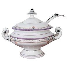 19th Century Continental Porcelain Sauce Tureen