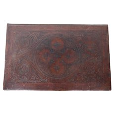 19th Century Portuguese Brown Leather Writing Folder/Case
