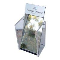 Original Maurice Lacroix Mirror Display, Vanity Mirror, Vintage ca. 1990