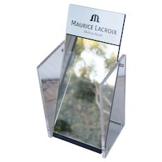 Original Maurice Lacroix Mirror Display, Vanity Mirror, Vintage ca. 1990