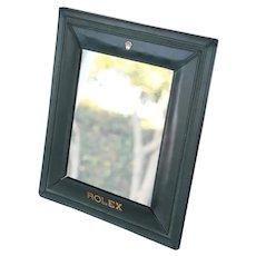 Original Rolex Leather Mirror Display, Vanity Mirror, Vintage ca. 1980