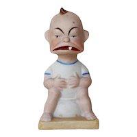 Original Schafer & Vater, Snookums Character on Potty Match Holder, Antique