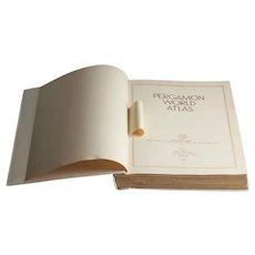 (Rare) Pergamon World Atlas: Oxford, London, New York, Toronto, Sydney, Paris, Braunschweig, Tokyo - 1968