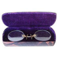 Antique 19th Century English Pince-Nez with Case