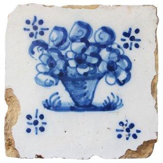 Planter Tile, 18th Century, Portuguese Baroque