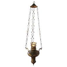 19th Century Portuguese Baroque Brass Chandelier