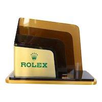Original Rolex Letter Holder for Desk, Brochure Stand, Vintage ca. 1980