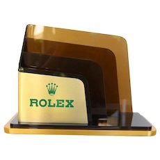 Original Rolex Letter Holder for Desk, Brochure Stand, Vintage ca. 1980