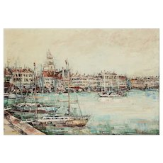 20th Century, Stunning Saint-Tropez Painting, Oil on Canvas, Signed, French