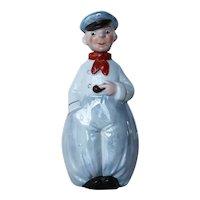 Original Schafer & Vater, Sailor With Pipe, Color Flask, Antique
