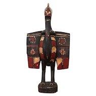 Vintage Senufo Bird (Hornbill) Statue, Ivory Cost, Wood Carved